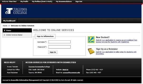 screenshot of AIM login interface