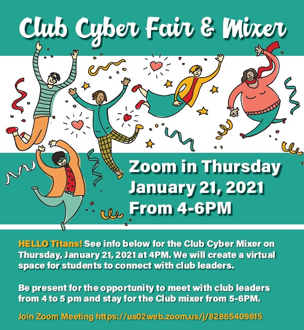 flyer for cyber club mixer